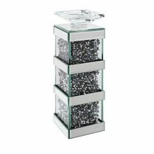 ACME Noralie Accent Candleholder (Set-2) - 97619 - Mirrored & Faux Diamonds