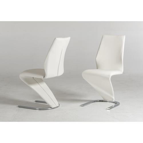 VIG Furniture - Penn - Modern White Leatherette Dining Chair (Set of 2)