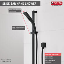 Matte Black H 2 Okinetic ® 3-Setting Slide Bar Hand Shower