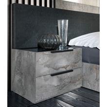Product Image - Nova Domus Ferrara - Modern Volcano Oxide Grey Nightstand
