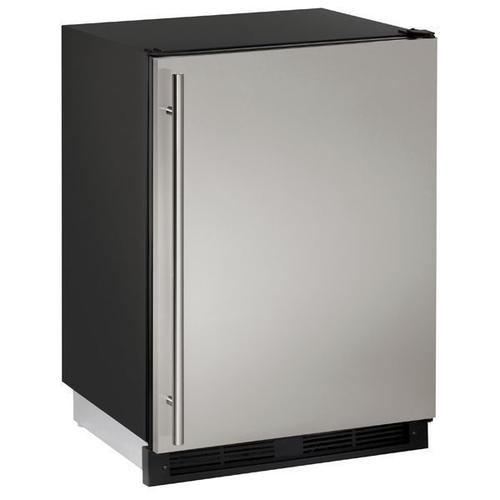 """1224r 24"""" Refrigerator With Stainless Solid Finish (115 V/60 Hz Volts /60 Hz Hz)"""