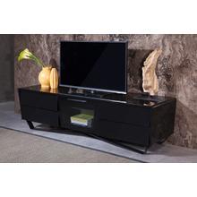Nova Domus Max Modern Black TV Stand