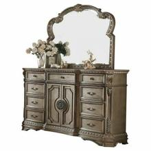 ACME Northville Dresser w/Wooden Top - 26938 - Antique Silver
