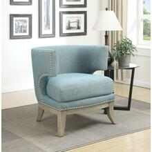 Contemporary Blue Accent Chair