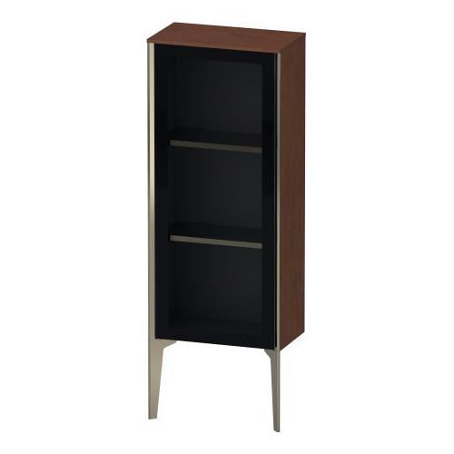 Duravit - Semi-tall Cabinet With Mirror Door Floorstanding, American Walnut (real Wood Veneer)
