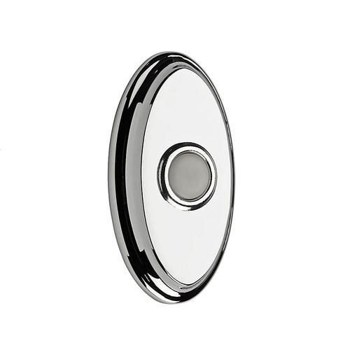 Polished Chrome BR7016 Oval Bell Button