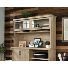 Prime Oak Home Office Hutch with Storage