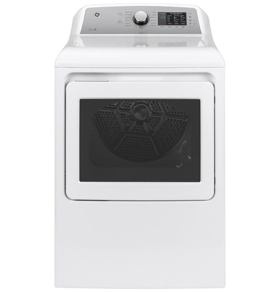 GEGe(r) 7.4 Cu. Ft. Capacity Aluminized Alloy Drum Electric Dryer With Sanitize Cycle And Sensor Dry