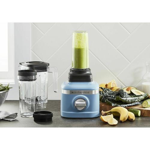 KitchenAid - K150 3 Speed Ice Crushing Blender with 2 Personal Blender Jars - Blue Velvet