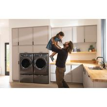 View Product - Front Load Perfect Steam™ Electric Dryer with Balanced Dry™ and Instant Refresh - 8.0 Cu. Ft.