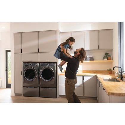 See Details - Front Load Perfect Steam™ Electric Dryer with Balanced Dry™ and Instant Refresh - 8.0 Cu. Ft.