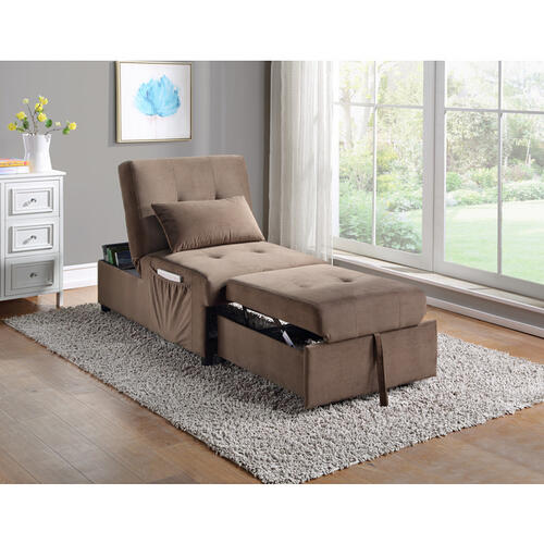 Lift Top Storage Bench with Pull-out Bed