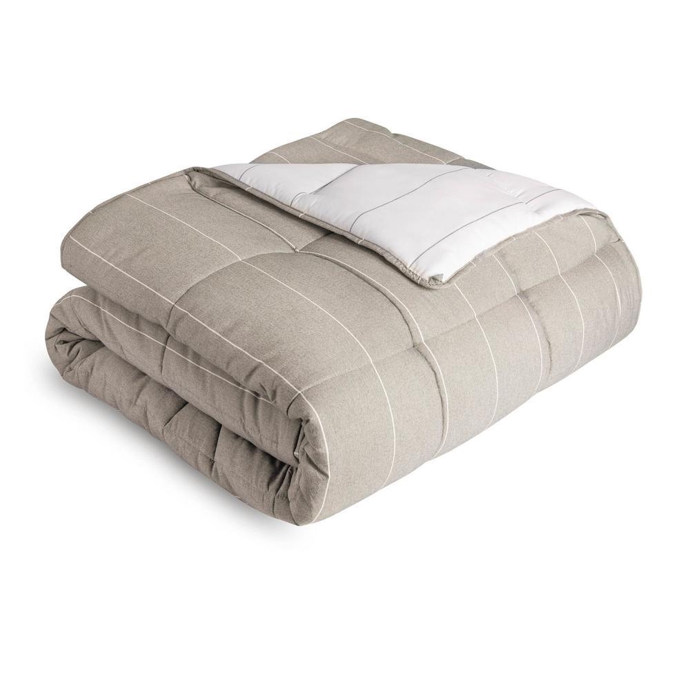 Chambray Comforter Set Queen Birch