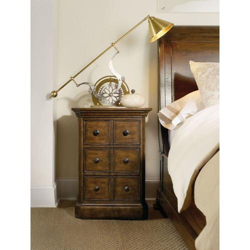 Bedroom Archivist Three-Drawer Telephone Table