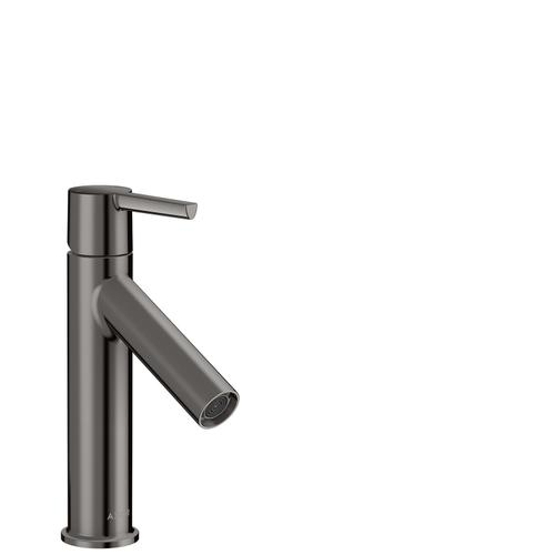 Polished Black Chrome Single lever basin mixer 100 with lever handle and waste set