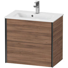 View Product - Vanity Unit Wall-mounted Compact, Natural Walnut (decor)