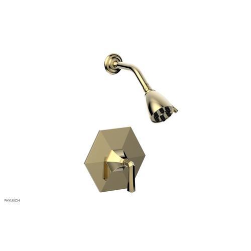 Phylrich - LE VERRE & LA CROSSE Pressure Balance Shower Set - Lever Handle PB3170 - Polished Brass Uncoated