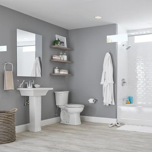American Standard - Edgemere Right Height Elongated Toilet  1.28 GPF  American Standard - White