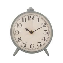 "6""L x 2-1/2""W x 6-3/4""H Metal Mantel Clock, Grey (Requires 1-AA Battery)"