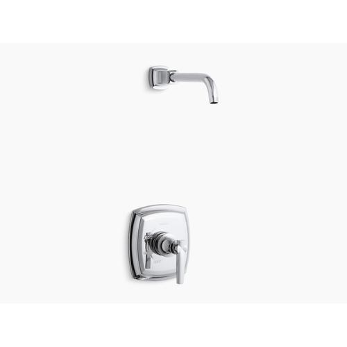 Kohler - Vibrant Brushed Bronze Rite-temp Shower Valve Trim With Lever Handle, Less Showerhead