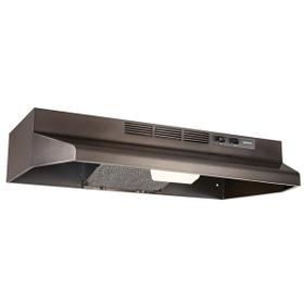 30-Inch Convertible Under Cabinet Range Hood with light, Black Stainless Steel