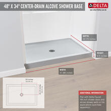 "High Gloss White 48"" X 34"" Shower Base"