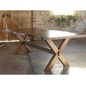 "Bench*Made Maple 90"" Rectangular Table w/ Live Edge"