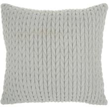 "Life Styles Et299 Light Grey 18"" X 18"" Throw Pillow"