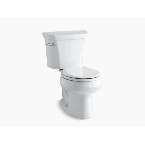 Kohler - White Two-piece Round-front 1.28 Gpf Toilet With Tank Cover Locks