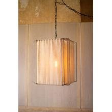 pendant light with canvas shade