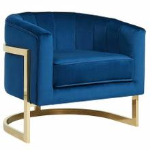See Details - Tarra Accent Chair in Blue/Gold