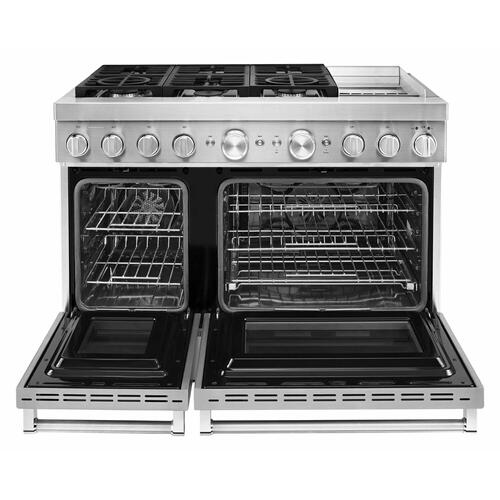KitchenAid Canada - KitchenAid® 48'' Smart Commercial-Style Dual Fuel Range with Griddle - Stainless Steel