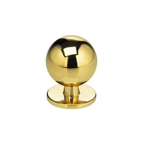 Modern Cabinet Knob in US3 (Polished Brass, Lacquered)