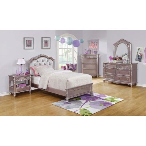 Product Image - Caroline Metallic Lilac Twin Bed