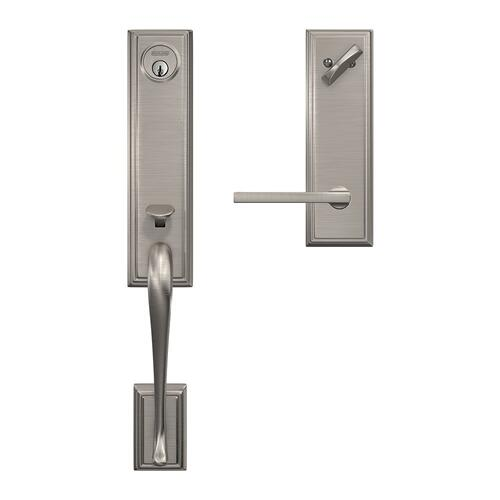 Custom Addison 3/4 Trim Single Cylinder Handleset with Latitude Lever - Satin Nickel