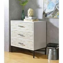 ACME Uma Console Table - 97452 - White & Weathered Wood Pattern