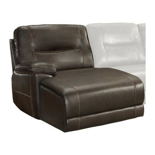 Homelegance - Left Side Chaise, Push Back Recliner