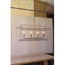 rectangle iron bar pendant light