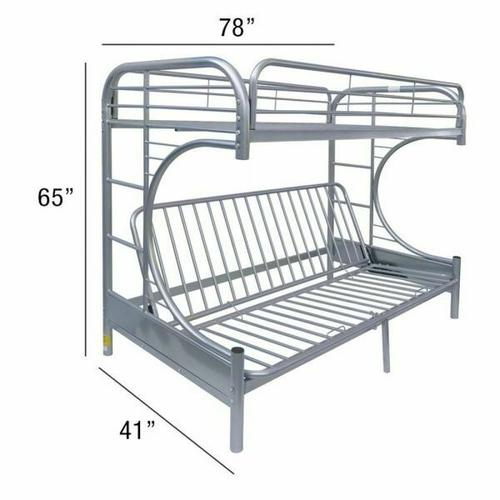 ACME Eclipse Twin/Full/Futon Bunk Bed - 02091W-SI - Silver