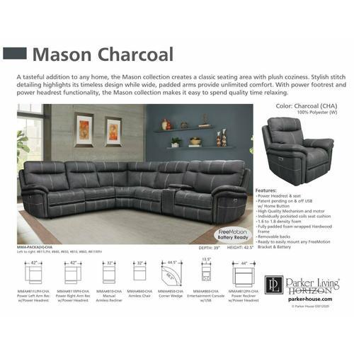 MASON - CHARCOAL Manual Armless Recliner