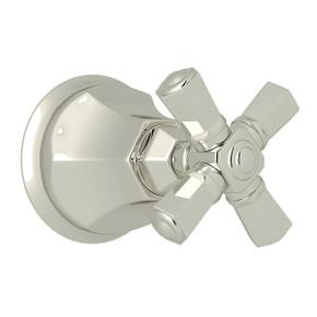 Palladian Trim for Volume Controls and Diverters - Polished Nickel with Cross Handle