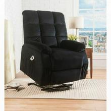 ACME Ipompea Recliner w/Power Lift & Massage - 59262 - Black Velvet