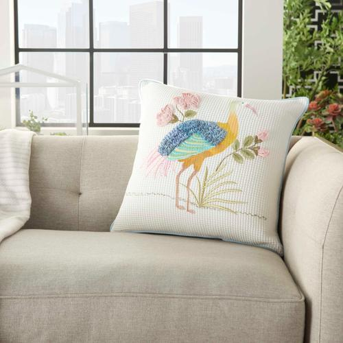 """Plushlines Ch342 Multicolor 18"""" X 18"""" Throw Pillow"""