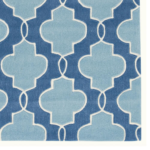 Trio Tile Blue 8ft X 10ft