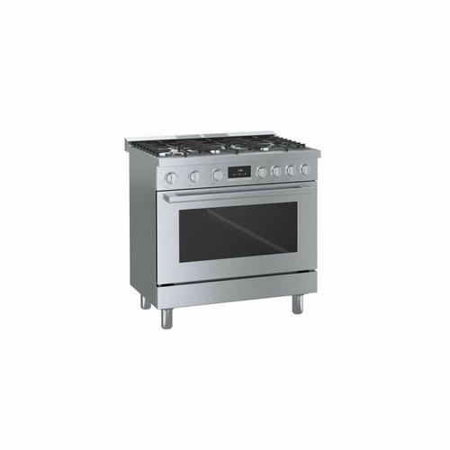 800 Series Dual Fuel Freestanding Range 36'' Stainless Steel HDS8655U