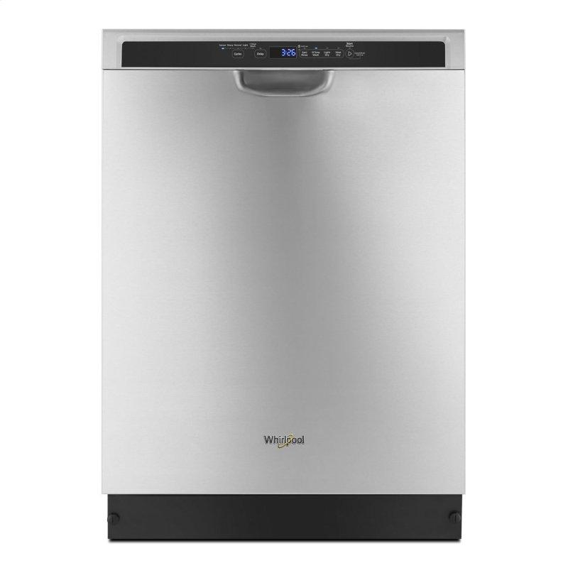 Stainless steel dishwasher with 1-Hour Wash cycle Stainless Steel