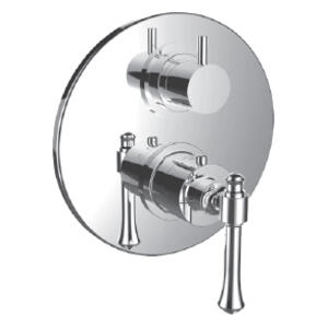 "7096at-tm - Trim (shared Function) 1/2"" Thermostatic Trim With 2-way Diverter in Satin Rose Gold"
