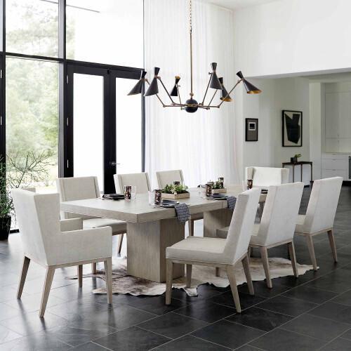 Bernhardt - Linea Sofa Table in Cerused Charcoal (384)