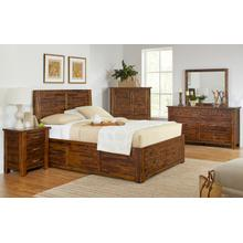 Sonoma Creek 4 Piece Queen Bedroom Set: Bed, Dresser, Mirror, Nightstand