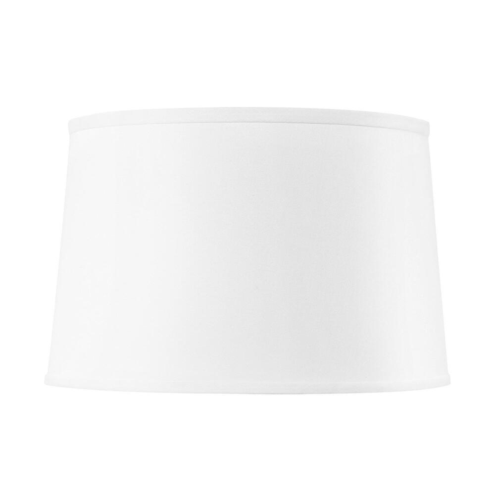 Shade 17-inch with Nickel, White Linen